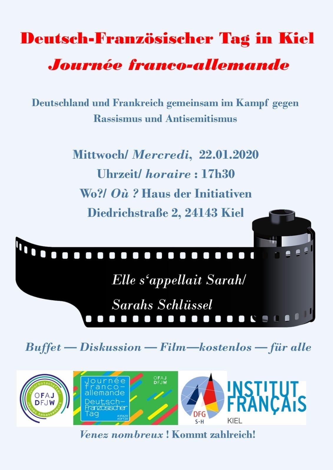 Deutsch-Französischer Tag: Film, Diskussion & Buffet