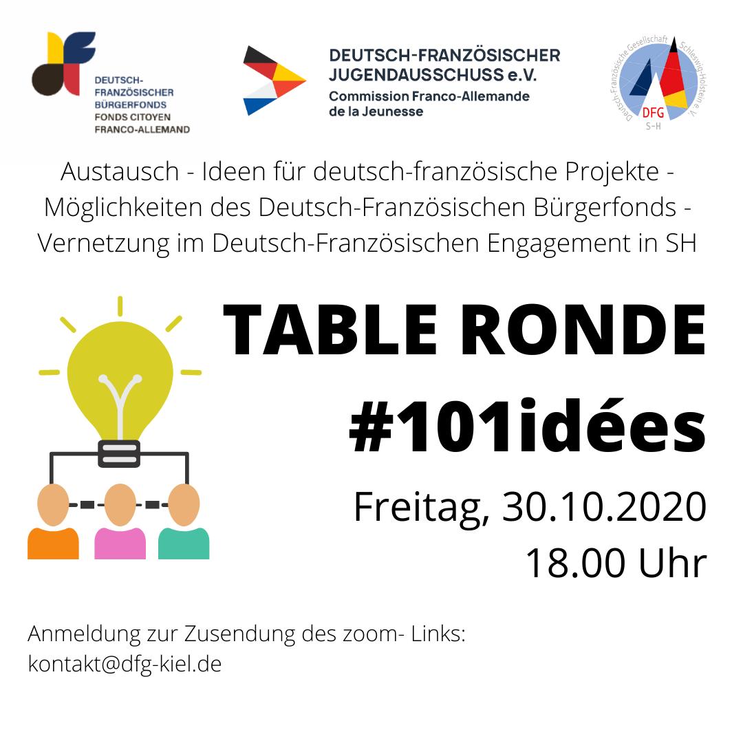 """Table Ronde spéciale - """"101 idées pour l'amitié franco-allemande"""""""