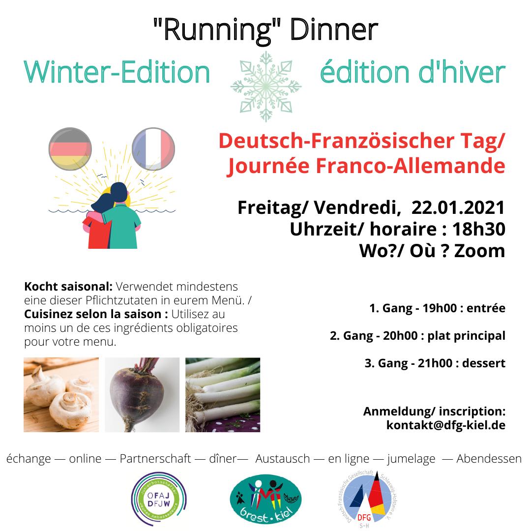 """Deutsch-Französischer Tag: Online """"Running"""" Dinner"""