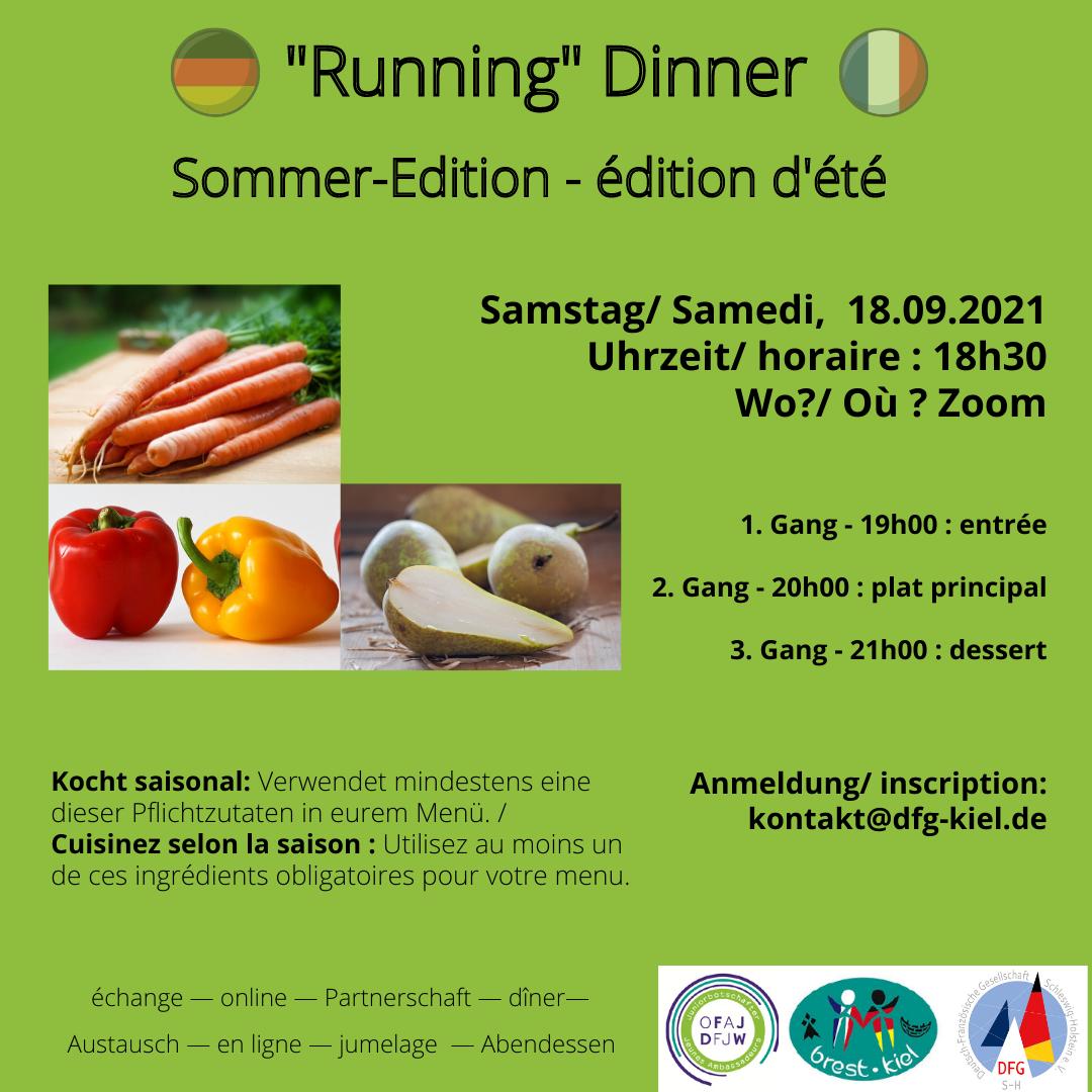 """Online """"Running"""" Dinner - édition été"""